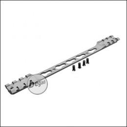 Double Picatinny & KeyMod Rail für Begadi Modular Handguard System - grau