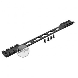 Double Picatinny & KeyMod Rail für Begadi Modular Handguard System - schwarz