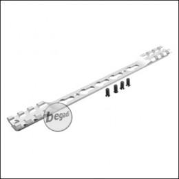 Double Picatinny & KeyMod Rail für Begadi Modular Handguard System - silber
