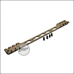 Double Picatinny & KeyMod Rail für Begadi Modular Handguard System - TAN