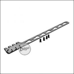 Single Picatinny & KeyMod Rail für Begadi Modular Handguard System - grau