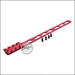 Single Picatinny & KeyMod Rail für Begadi Modular Handguard System - rot