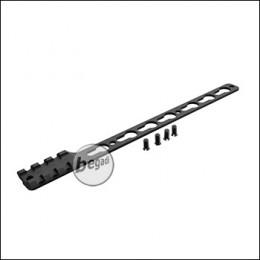 Single Picatinny & KeyMod Rail für Begadi Modular Handguard System - schwarz