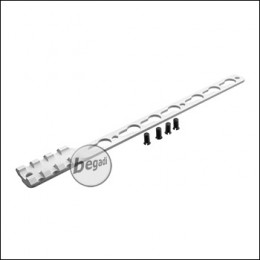 Single Picatinny & KeyMod Rail für Begadi Modular Handguard System - silber