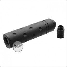 SLONG Slim Silencer 106x27mm, inkl. GBB Silencer Adapter -Round Holes-