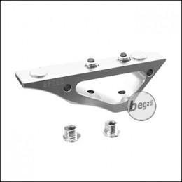 "Speed Airsoft Keymod Grip ""Twin Curve"" -silber- [SA3721]"