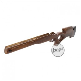 Taring Carving Echtholz Schaft für L96 / MB01 - Design 3 (hell)