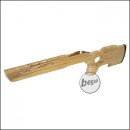 Taring Carving Echtholz Schaft für VSR / MB03 - Design 3 (hell)