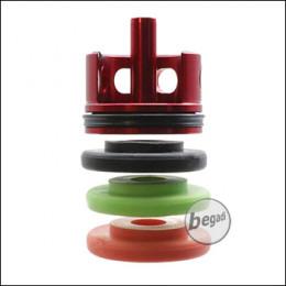 TOPMAX CNC Alu V2 Cylinderhead mit Sorbo Pads & QUAD-Ring - weich, mittel & hart - (Bundle)