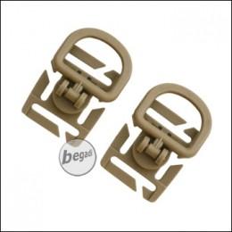 VIPER Tactical D-Ring Set, für MOLLE Gurtband, 2 Stück - TAN -