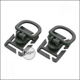 VIPER Tactical D-Ring Set, für MOLLE Gurtband, 2 Stück - olive / grau -