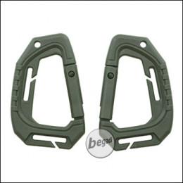 VIPER Spec Ops Karabiner, aus Polymer, 2er Pack -olive-