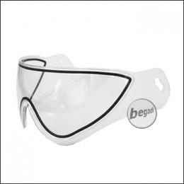 Ersatz Glas für WARQ Schutzhelm -transparent-