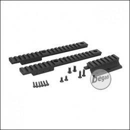 WII Tech SCAR / MK16 / MK17 Tactical Extension Rail Set - schwarz