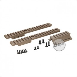 WII Tech SCAR / MK16 / MK17 Tactical Extension Rail Set - TAN