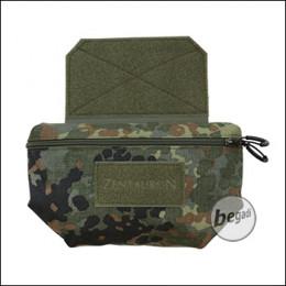 ZentauroN Fronttasche für Plattenträger mit Doppelzipper - flecktarn