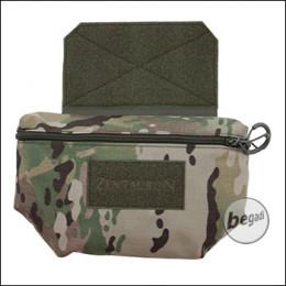 ZentauroN Fronttasche für Plattenträger mit Doppelzipper - multicam