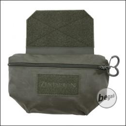 ZentauroN Fronttasche für Plattenträger mit Doppelzipper - steingrau olive