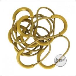 ZentauroN Rubber / Zipper Pulls, lautlos - beige / TAN (10er Pack)