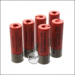 Ersatz Shells für Begadi Sport Shotgun Serie, rot -6er Pack-