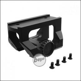 Begadi Low Drag CNC Montage für T1 & T2 Reddots, schwarz
