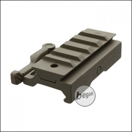 Begadi Flat Rail QD Mount Riser - TAN