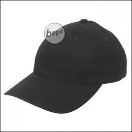 BB Cap, flach, Stofflasche, Messingv., schwarz, gebürstet