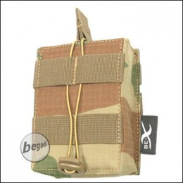 BE-X Open Mag Pouch, single, f. G3 / M14 -V2, Rip Stop- rooivalk