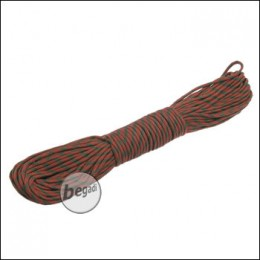"BE-X Paracord ""OD green - red"", 550lbs, 30m"