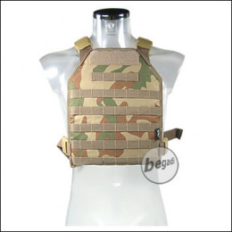 BE-X Lightweight Plate Carrier (unisize) -V2, Rip Stop- Rooivalk