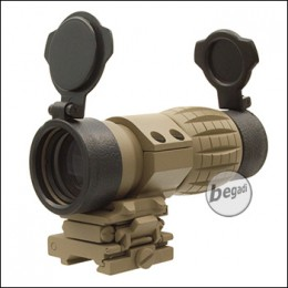 Begadi 4x Magnifier mit Push Button Flip To Side Mount - TAN