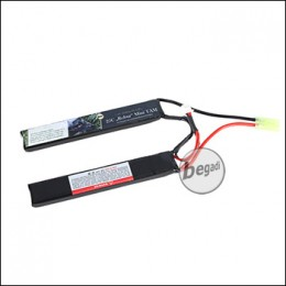 "Begadi LiPo Akku 7,4V 20C Double Stick ""Robur 7.4/125/2000"" mit Mini TAM"