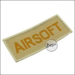 """Aufnäher """"Airsoft"""", neue Version - TAN"""