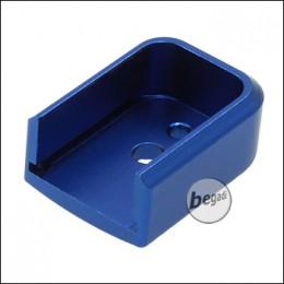 Begadi IPSC Magazinschuh für HiCapa Modelle -blau, hoch-