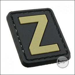 """3D Abzeichen """"Buchstabe Z"""" aus Hartgummi, mit Klett"""