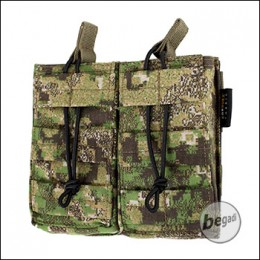 BE-X Open Mag Pouch, double, für M4 / M16 - PenCott Greenzone