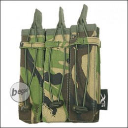 BE-X Open Mag Pouch, triple, für MP5 - woodland DPM