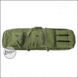 Begadi Langwaffentasche / Futteral mit Doppelfach, 100cm - olive