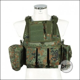 "PHX Plate Carrier / Plattenträger ""Commando"", mit 4 Taschen - flecktarn"