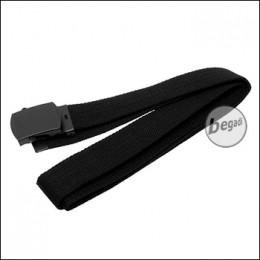 MFH Gürtel, 30mm, aus Webgurt, mit Metallschnalle - schwarz