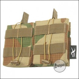 BE-X Open Mag Pouch, double, f. G3 / M14 -V2, Rip Stop- rooivalk