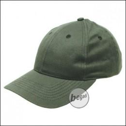 BB Cap, flach, Stofflasche, Messingv., olive, gebürstet