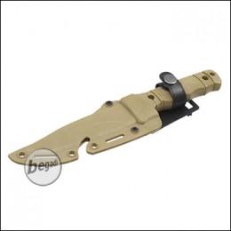 """UFC Übungsmesser / Dekomesser Typ M37 """"mit Clip"""" - TAN [UFC-AR-68TN]"""