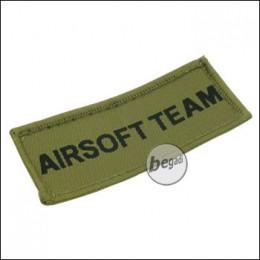 """Aufnäher """"Airsoft Team"""", neue Version - olive"""