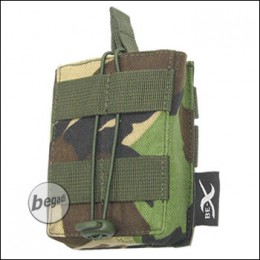 BE-X Open Mag Pouch, single, für G3 / M14 - woodland DPM