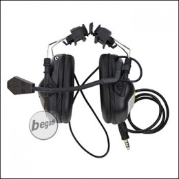 EARMOR -Helm- Headset M32 mit Schallschutz - schwarz [M32H-BK]