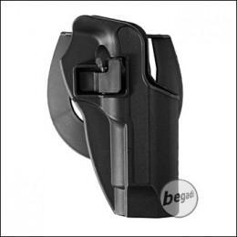 KYOU Hartschalenholster mit Paddle & Clip, für M9 - schwarz