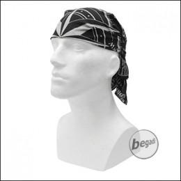 FIBEGA Survival Bandana, reine Baumwolle, 60x60cm - grau / schwarz