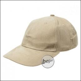 BB Cap, flach, Stofflasche, Messingv., khaki, gebürstet