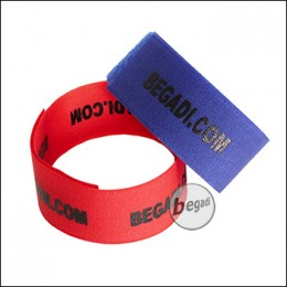 BEGADI Team Armband / Patch Set, rot/blau, 2 Stück